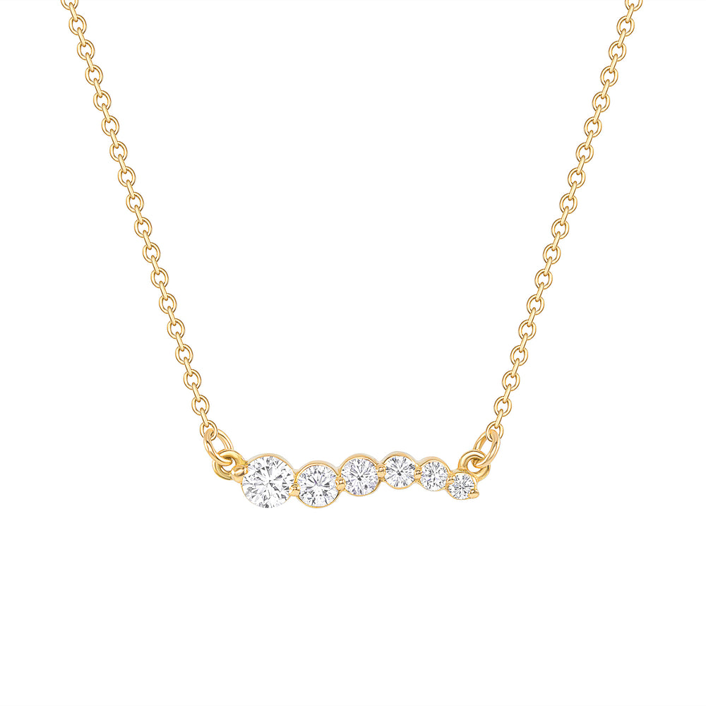 Up, Up & Away Diamond Necklace Pendant Yellow Gold