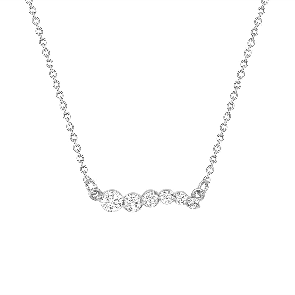 Up, Up & Away Diamond Necklace Pendant White Gold