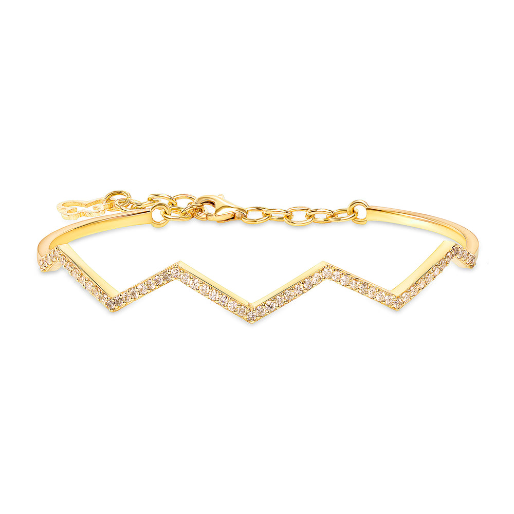 Zig Zag Diamond Cuff Bangle