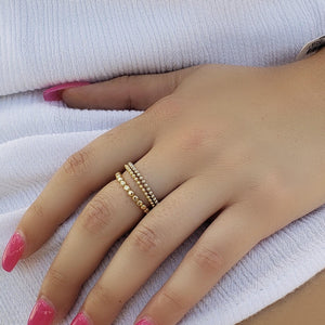 Circus Gold Ball Ring
