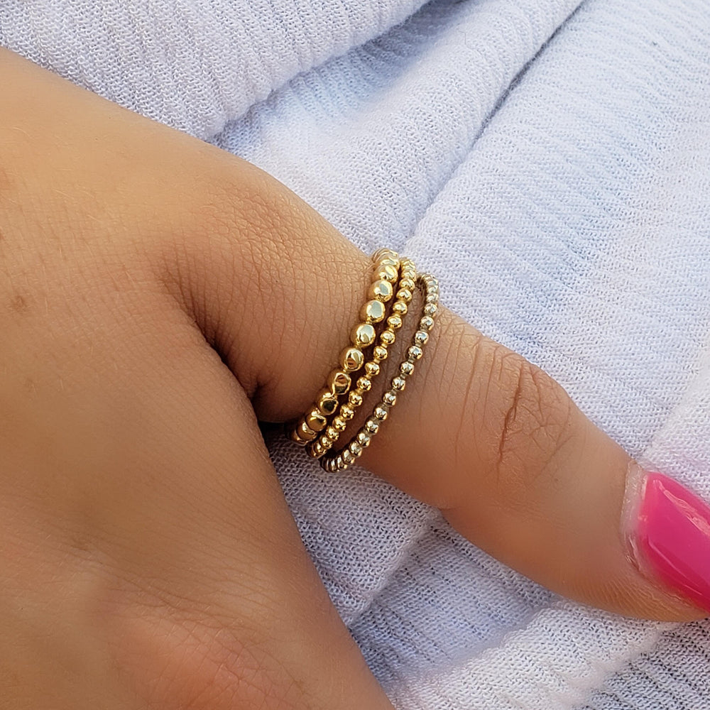 gold ball stackable ring