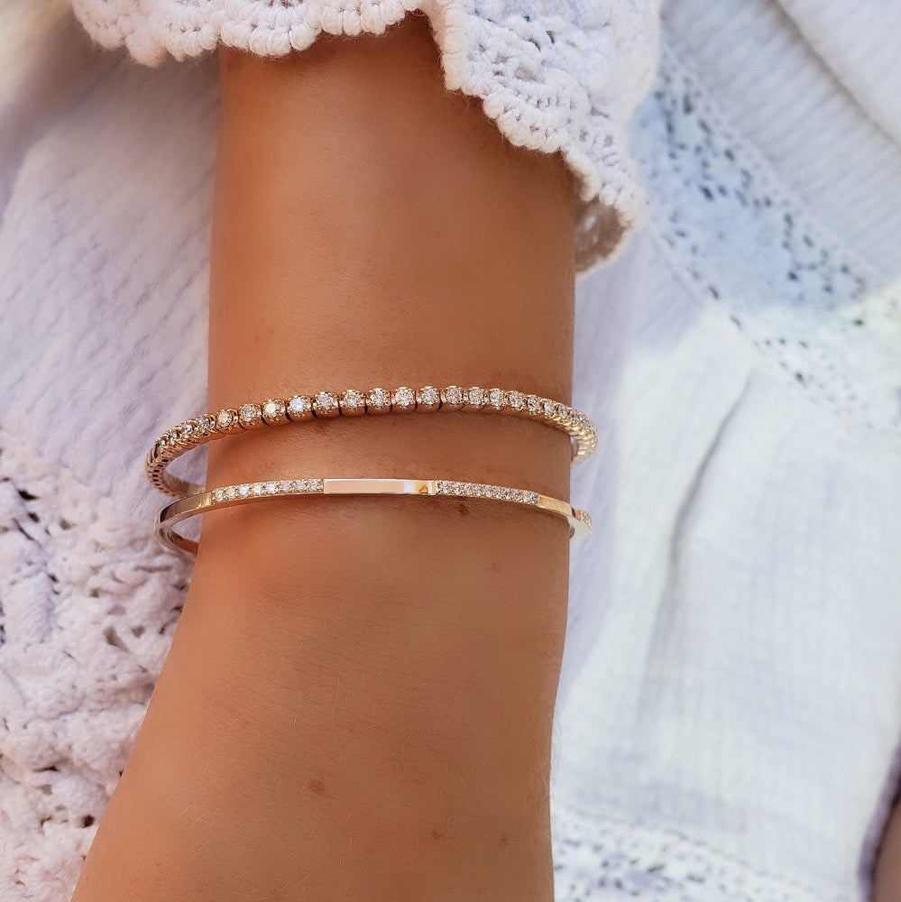 blissful diamond bangle