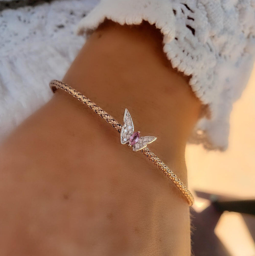 Butterfly Diamond Bangle