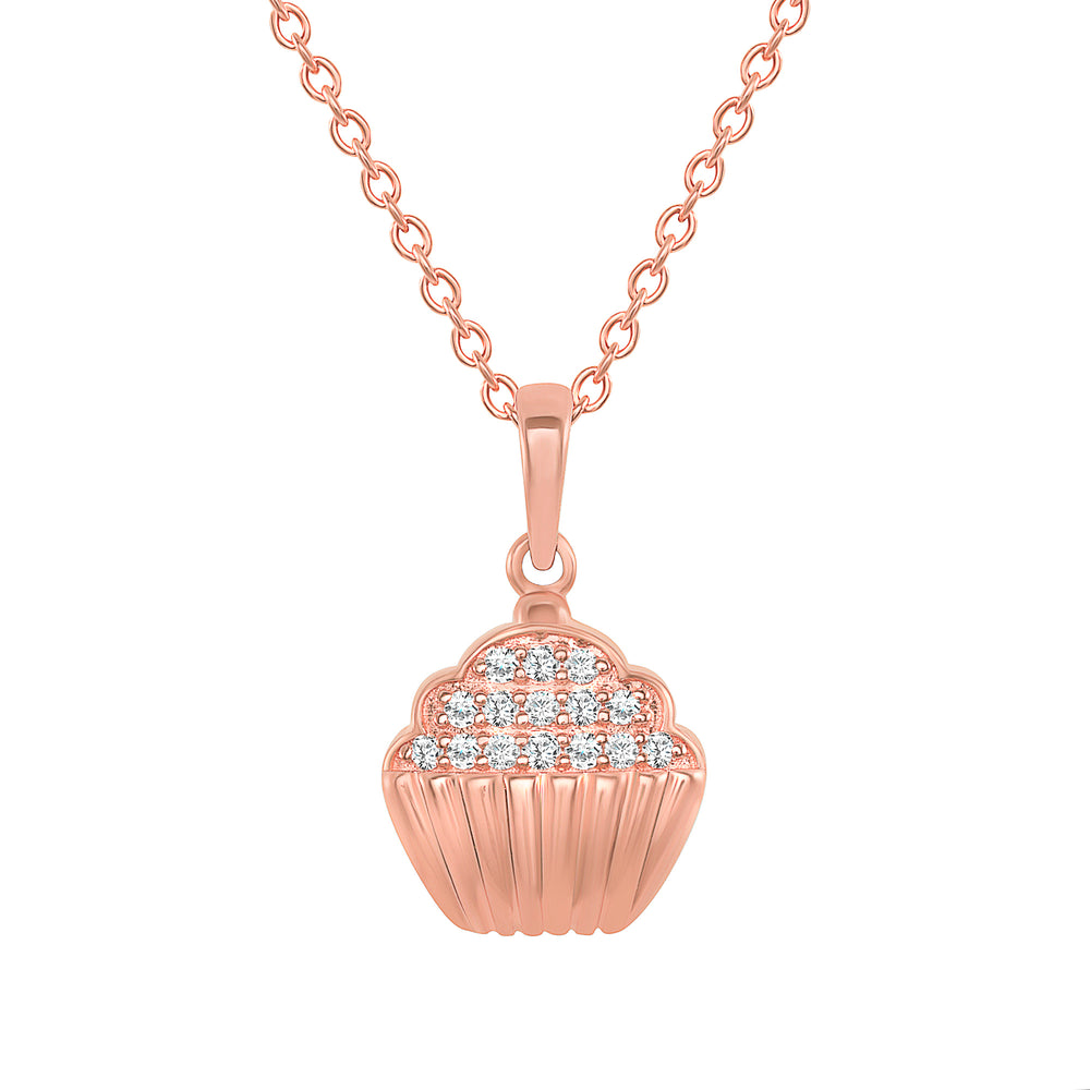 Rose Gold Cupcake necklace