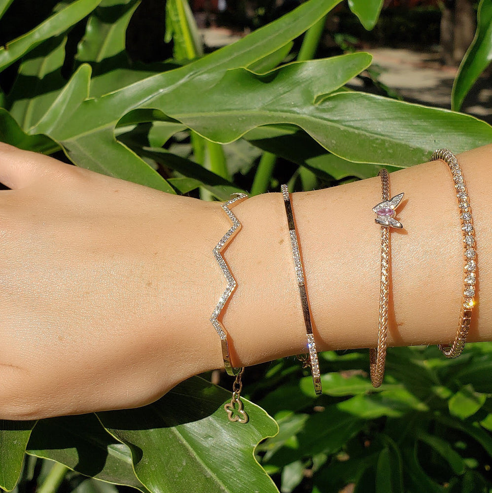 cutie cuff diamond bangle and other bangles