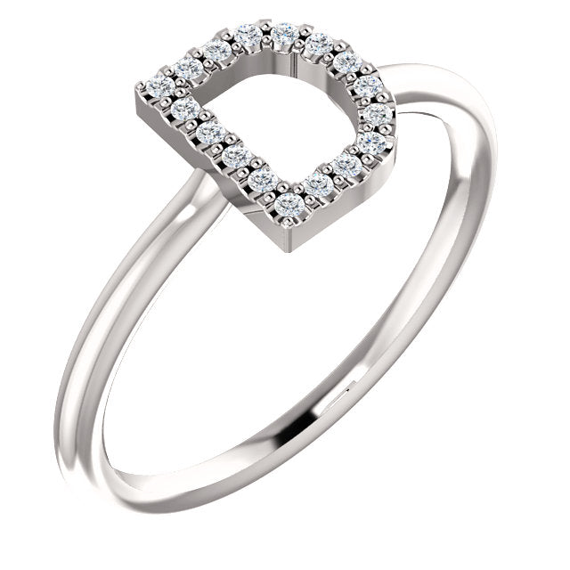 Initial Diamond Ring