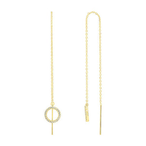 yellow gold Journey Chain Diamond Earrings
