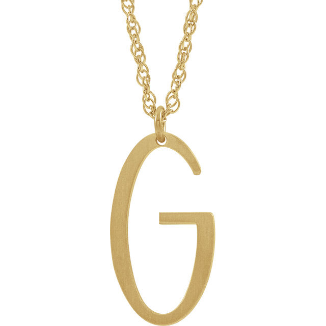 Tilted Initial Necklace