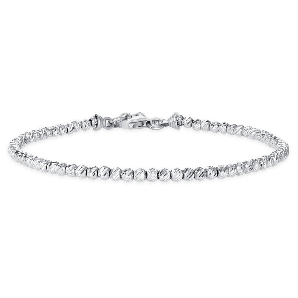 White Gold Ball Bracelet