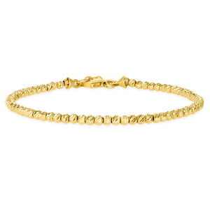 Yellow Gold Ball Bracelet