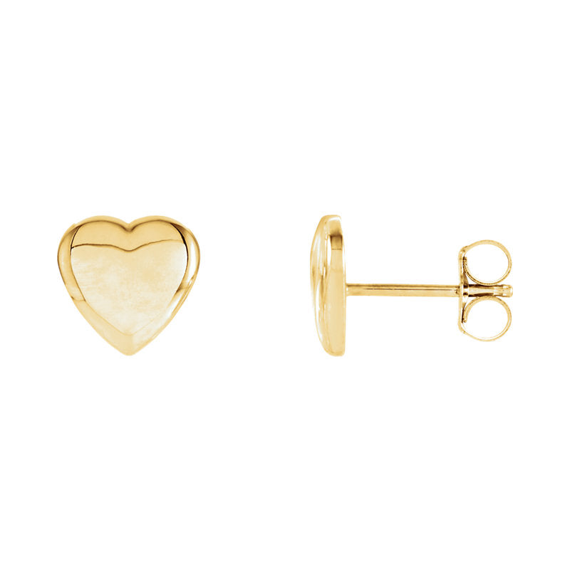 yellow gold stud earrings