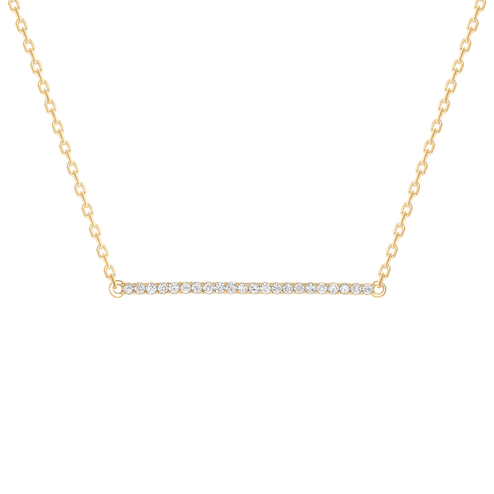 Horizontal Diamond Bar Necklace