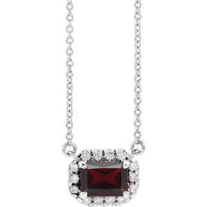 Birth Stone Diamond Necklace
