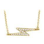 Lightning Bolt Diamond Necklace