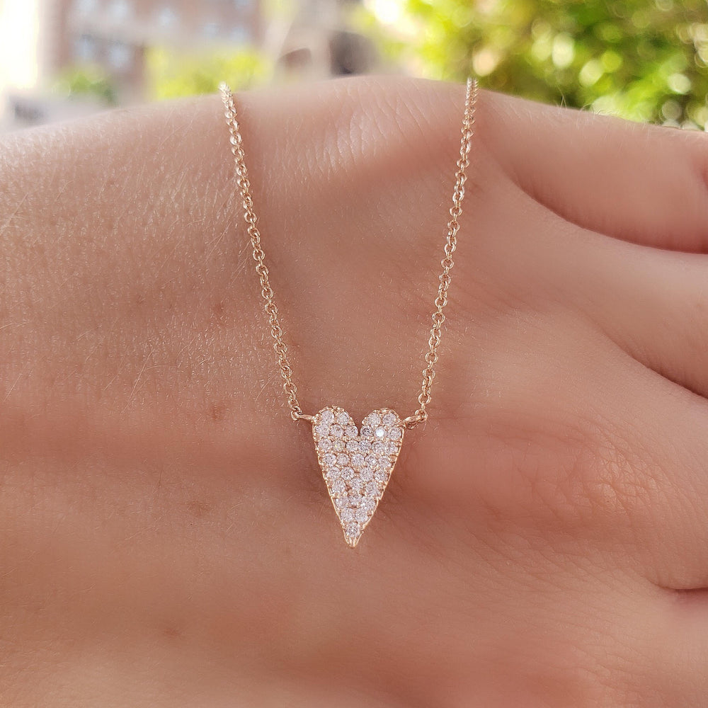 Long Heart Diamond Necklace