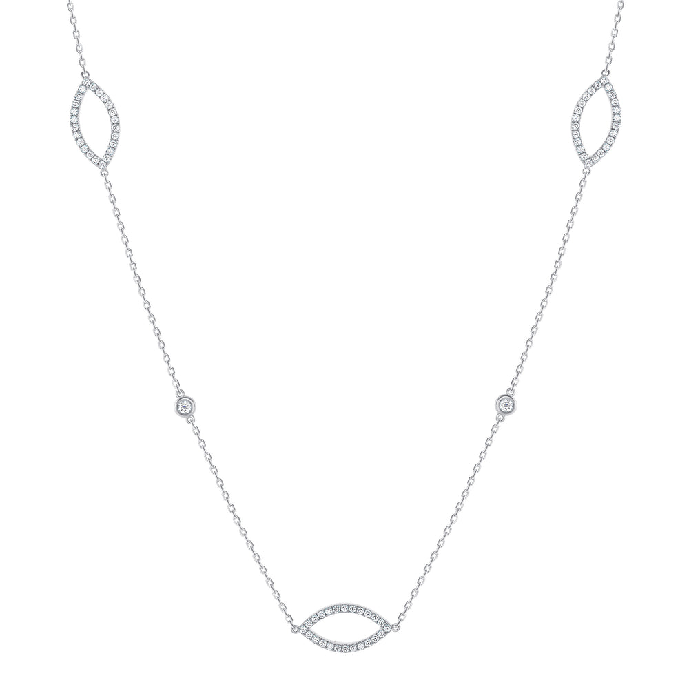 marquise diamond necklace white gold