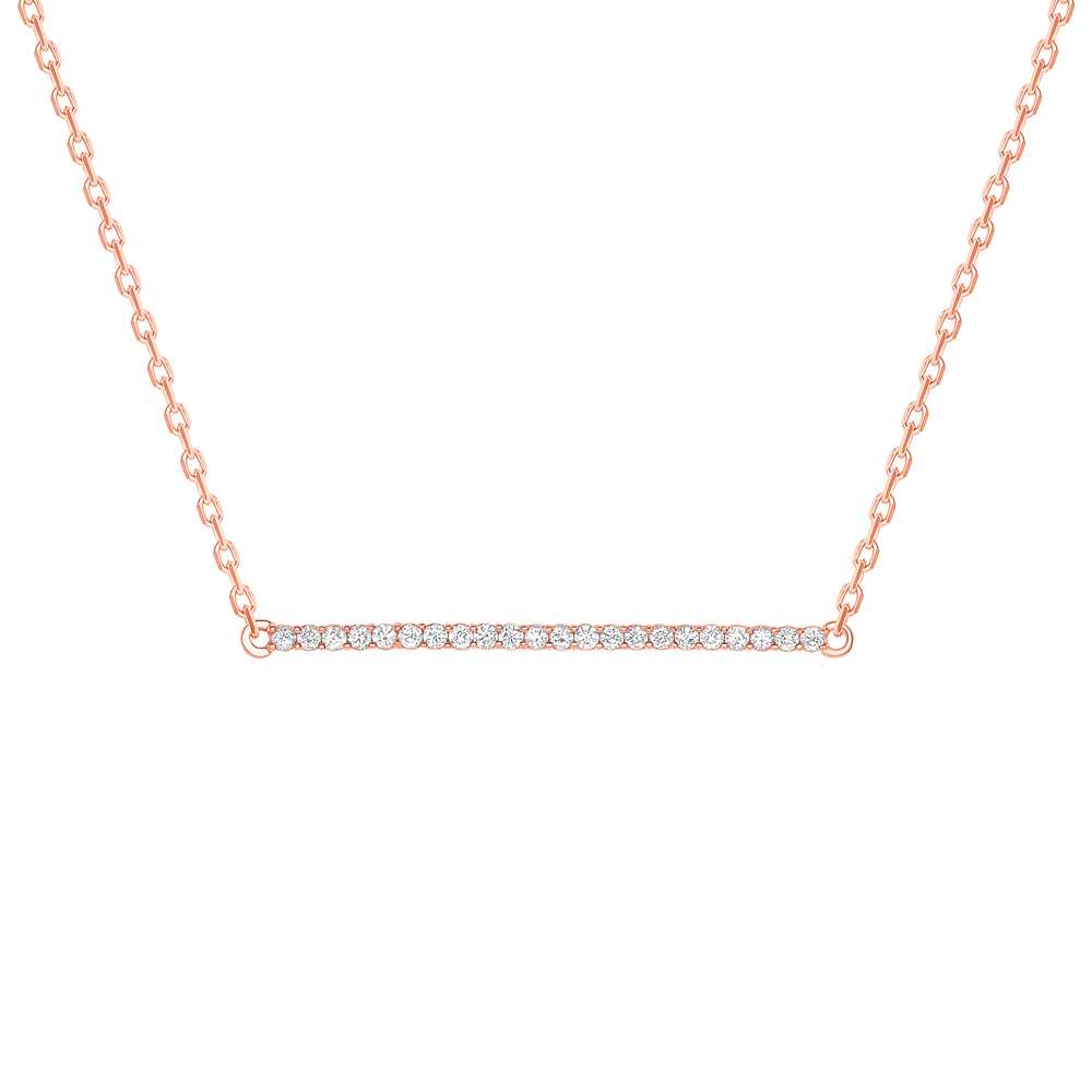rose gold vertical bar necklace