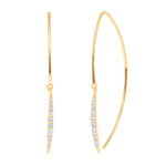 yellow gold paris diamond earrings