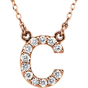 Rose Gold Letter C necklace