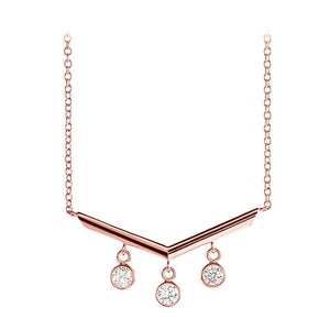 14k rose chandelier diamond necklace