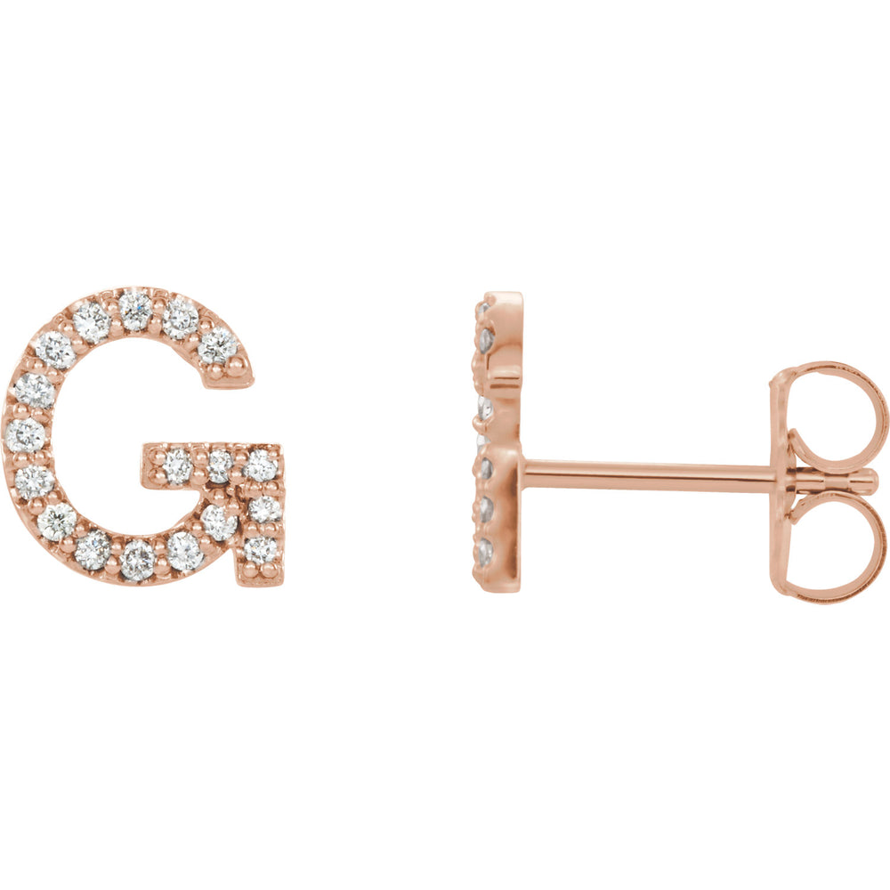 Rose Gold Letter G earrings