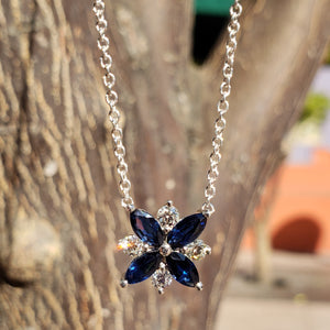 Sapphire Galaxy Necklace