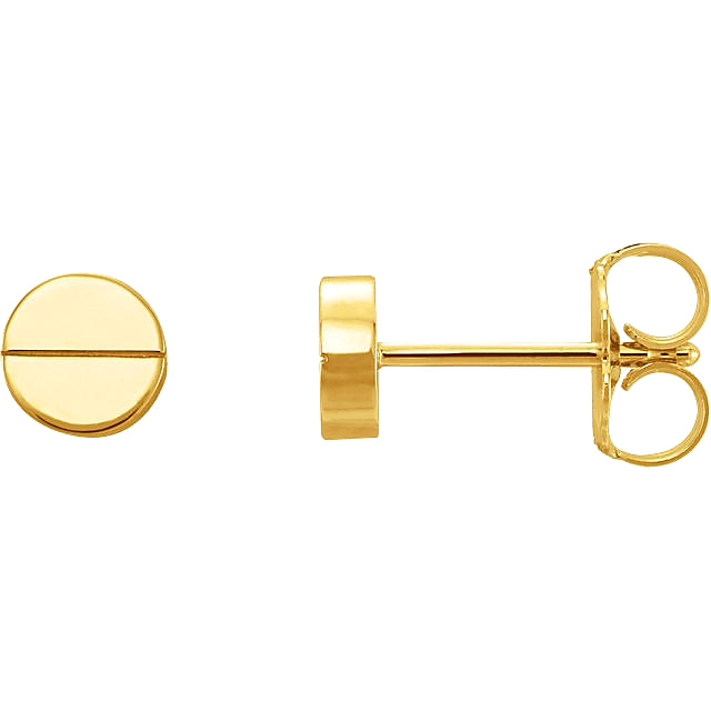 Yellow Gold Screw Earrings Sweet Tooth