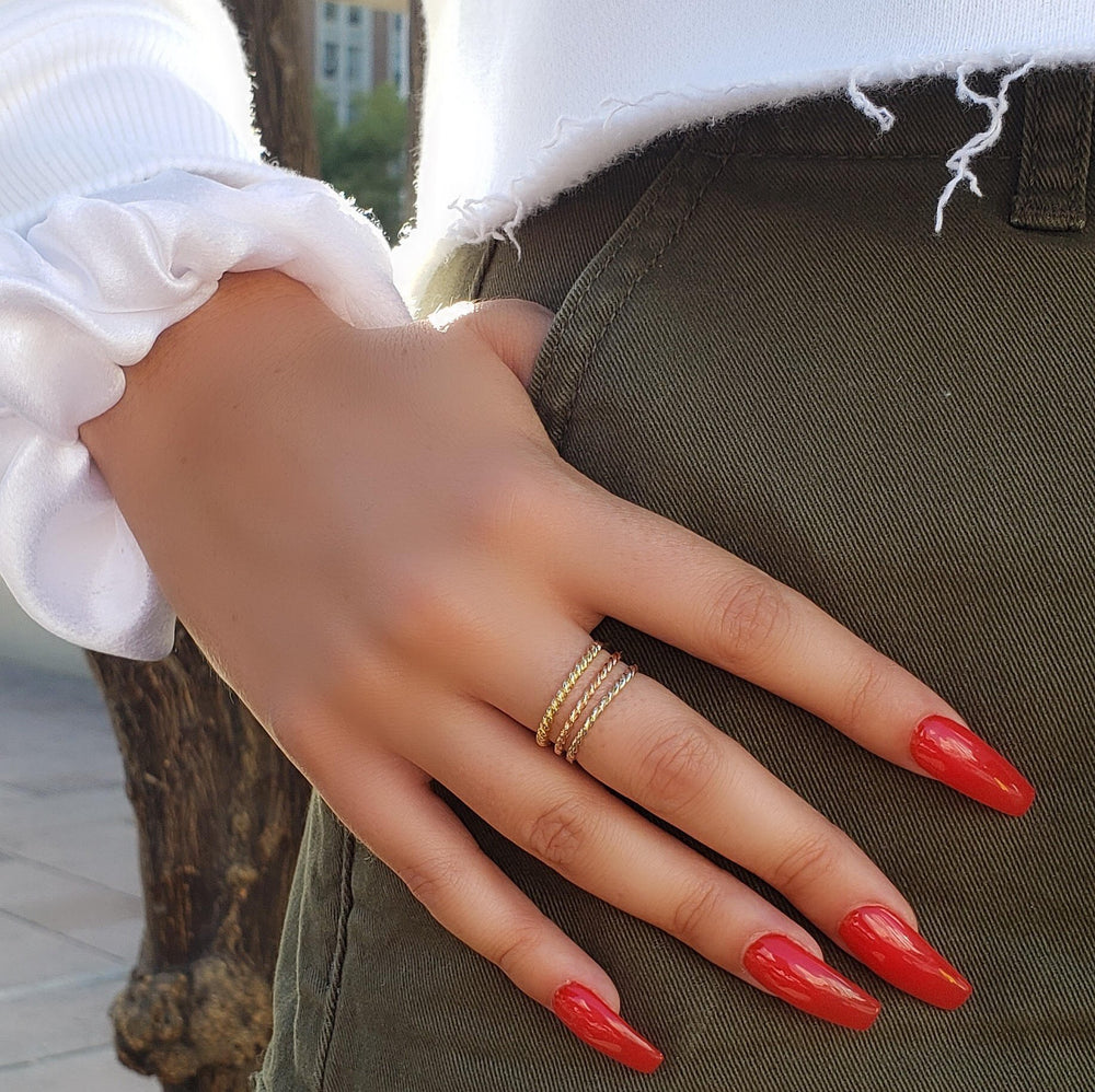 twisted braid ring
