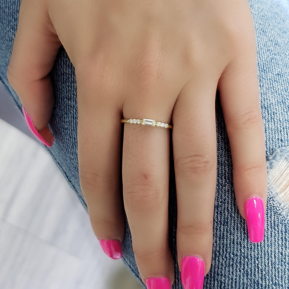 Throne Baguette Diamond Ring
