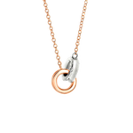 Rose and Yellow Gold necklace