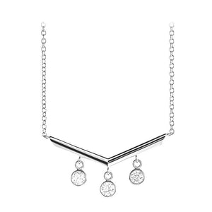 14k white chandelier diamond necklace