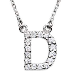 White Gold Letter D necklace