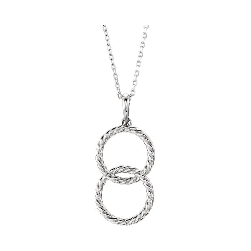 double interlock circle pendant
