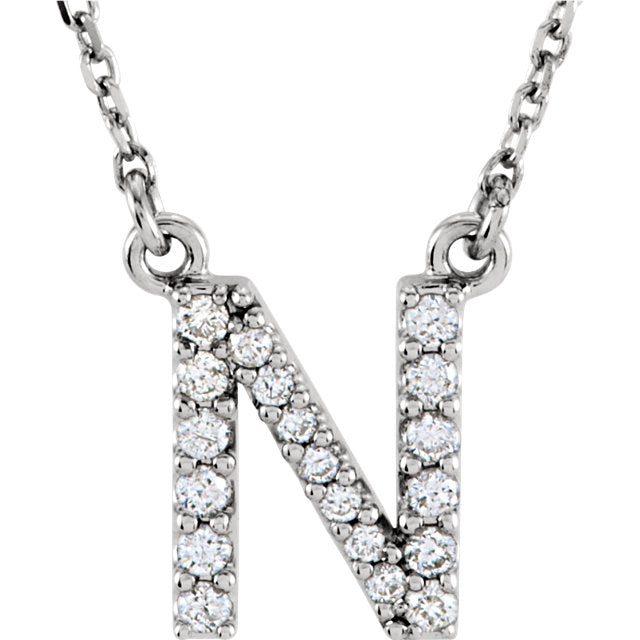 Alphabet Initial Diamond Necklace