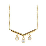 Chandelier Diamond Bar Necklace
