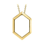 Hexagon Pendant Necklace