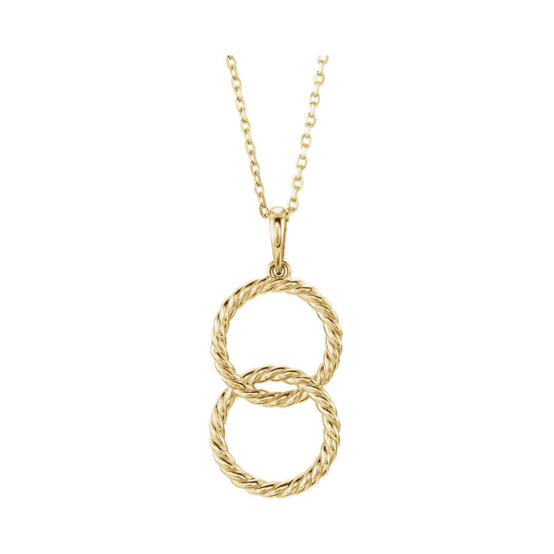 Double Interlocking Circle Necklace