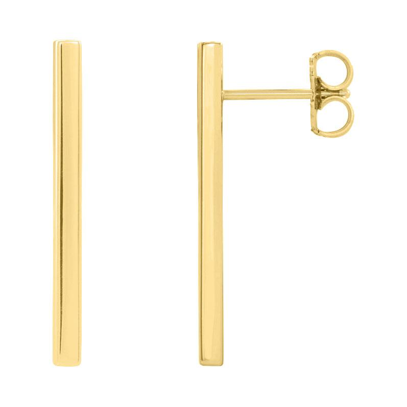 Long Gold Bar Earrings