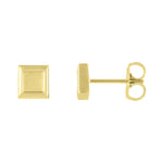 Petite Gold Square Earrings