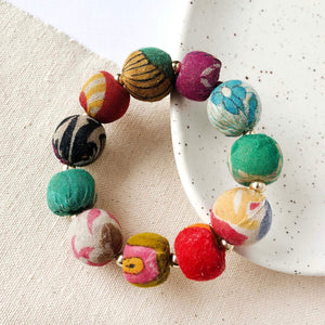 Load image into Gallery viewer, Kantha Bauble Bracelet, large