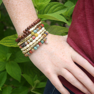Load image into Gallery viewer, Coiled Kantha Bracelet