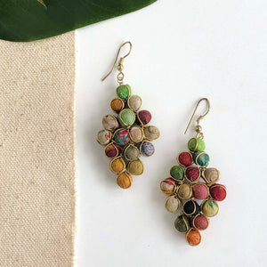 Load image into Gallery viewer, Kantha Diamond Earrings