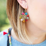 Kantha Sunflower Earrings