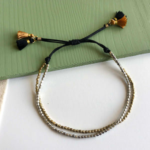 Load image into Gallery viewer, Paired Metallic Tassel Bracelet
