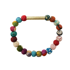 Kantha Linear Bar Bracelet