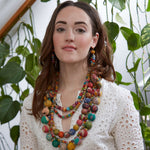 Kantha Dangling Hoops