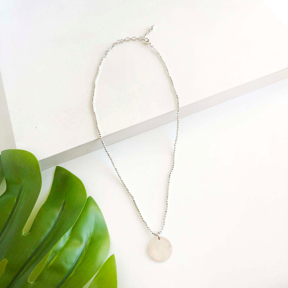 Simple Medallion Necklace