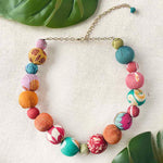 Kantha Bauble Collar Necklace - Multi