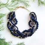 Kantha Indigo Braided Collar Necklace