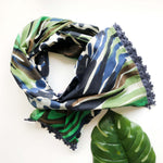 Watercolor Scarf - Navy
